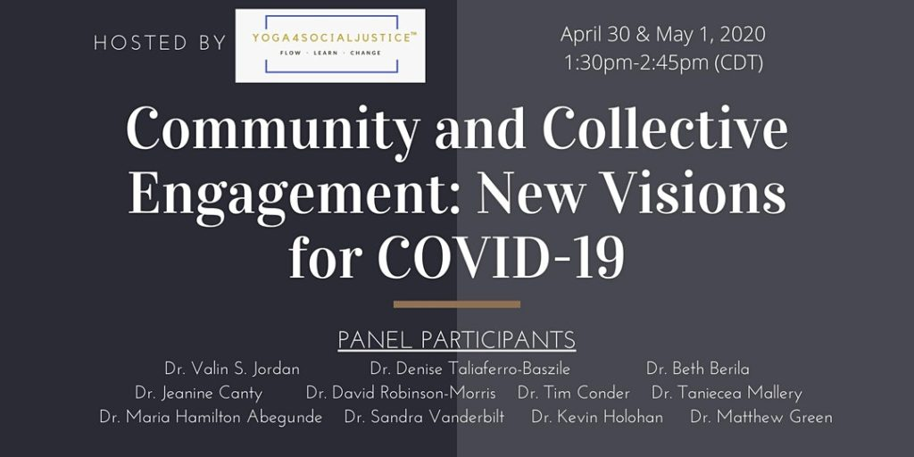 Graphic for Community and Collective Engagement: New Visions for COVID-19